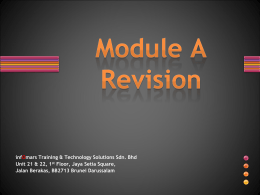 Revision Module A_with answers