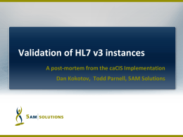 Validation of HL7 v3 instances