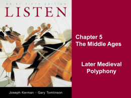 Later Medieval Polyphony