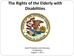 "Jason Johnson ""The Legal Rights of the Elderly with Disabilities"""