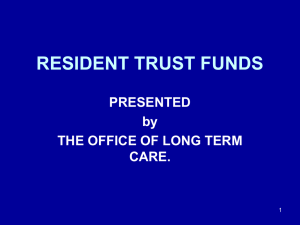 About Resident Trust Funds