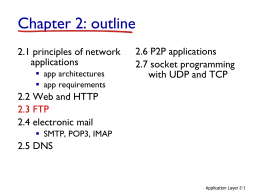 Chapter 2. Application Layer