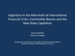 Argentina in the Aftermath of International Financial Crisis