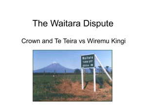 The Waitara Dispute
