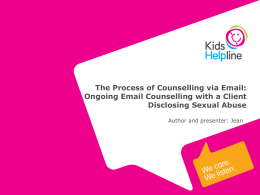 1. An overview of KHL email counselling