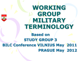 Working Group Military Terminology