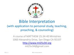 Bible Interpretation Course r3