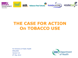Short presentation - Action on Smoking and Health