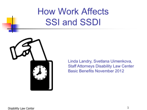 Work and SSI and SSDI