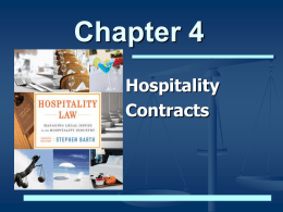 Hospitality Contracts - HospitalityLawyer.com
