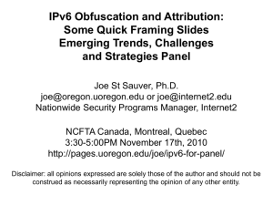 IPv6 Obfuscation/Attribution Emerging Trends, Challenges and