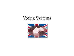 Voting Systems - Schools Project