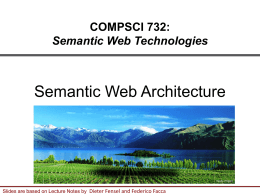 Semantic Web Architecture