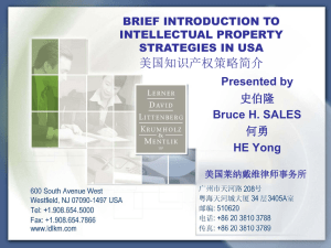 BHS Brief Introduction to IP Strategy in US