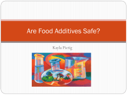 PPT Food Additives & Cancer