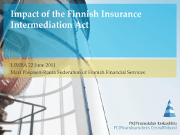 Impact of the Finnish Insurance Intermediation Act