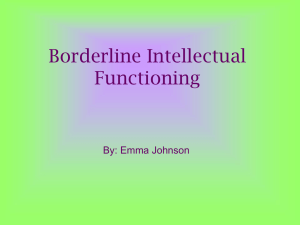 Borderline Intellectual Functioning