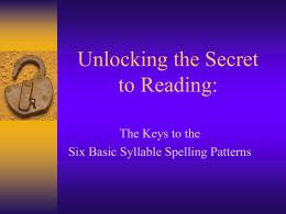 Unlocking the Secret to Reading: