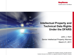 Intellectual Property and Technical Data Rights Under the