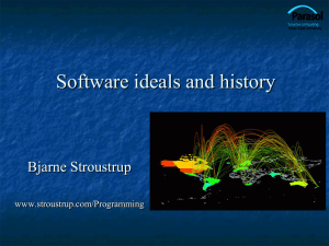 Ch22: Ideals and History - Bjarne Stroustrup`s Homepage