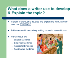 types of evidence and sentences