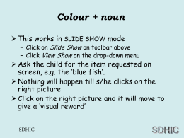 BSL Colours and nouns - Sign Language for Kids