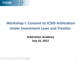 Consent - Arbitration Academy