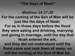 The Days of Noah - White Dove Ministries