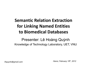 Semantic relation extraction