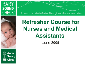 Refresher Course for Medical Assistants