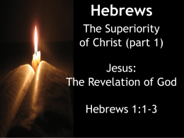 The Book of Hebrews - LifeonMarsHill.com