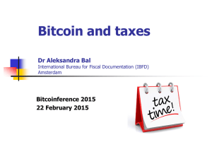 Bitcoin and taxes - Bitcoinference 2015