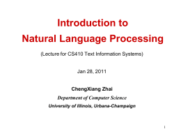 4-nlp - University of Illinois at Urbana