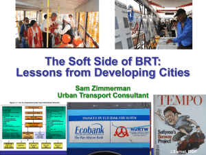 Sam Zimmerman - the National Bus Rapid Transit Institute