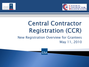 Central Contractor Registration (CCR)