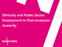 Ethnicity and Public Sector Employment in Post
