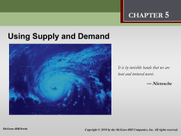 Using Supply and Demand PPT