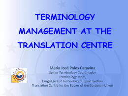 CDT-PALOS - Translation Centre for the Bodies of the European