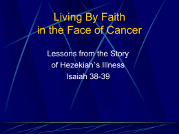 Living By Faith in the Face of Cancer