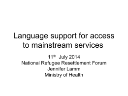 Language support for access to mainstream services