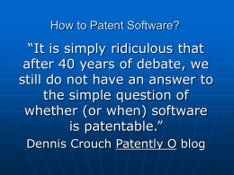 How to Patent Software?