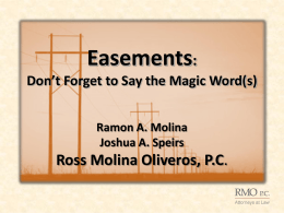 Easements - International Right of Way Association