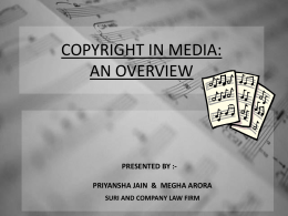 COPYRIGHT PROTECTION FOR MUSICAL WORKS : Comparative