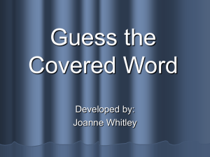 Guess the Covered Word - Thanksgiving - ppt