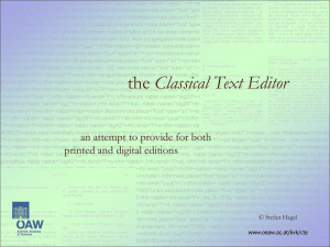 the Classical Text Editor