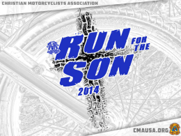 Run for the Son - Christian Motorcyclists Association