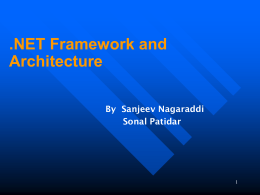 Microsoft .NET Architecture & Scurity