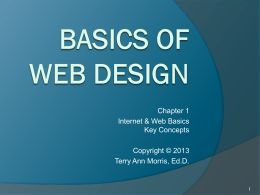 Basics of Web Design: Chapter 1
