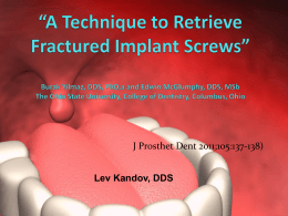 """A simplified approach to implant-supported metal"