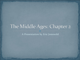 The Middle Ages: Chapter 2